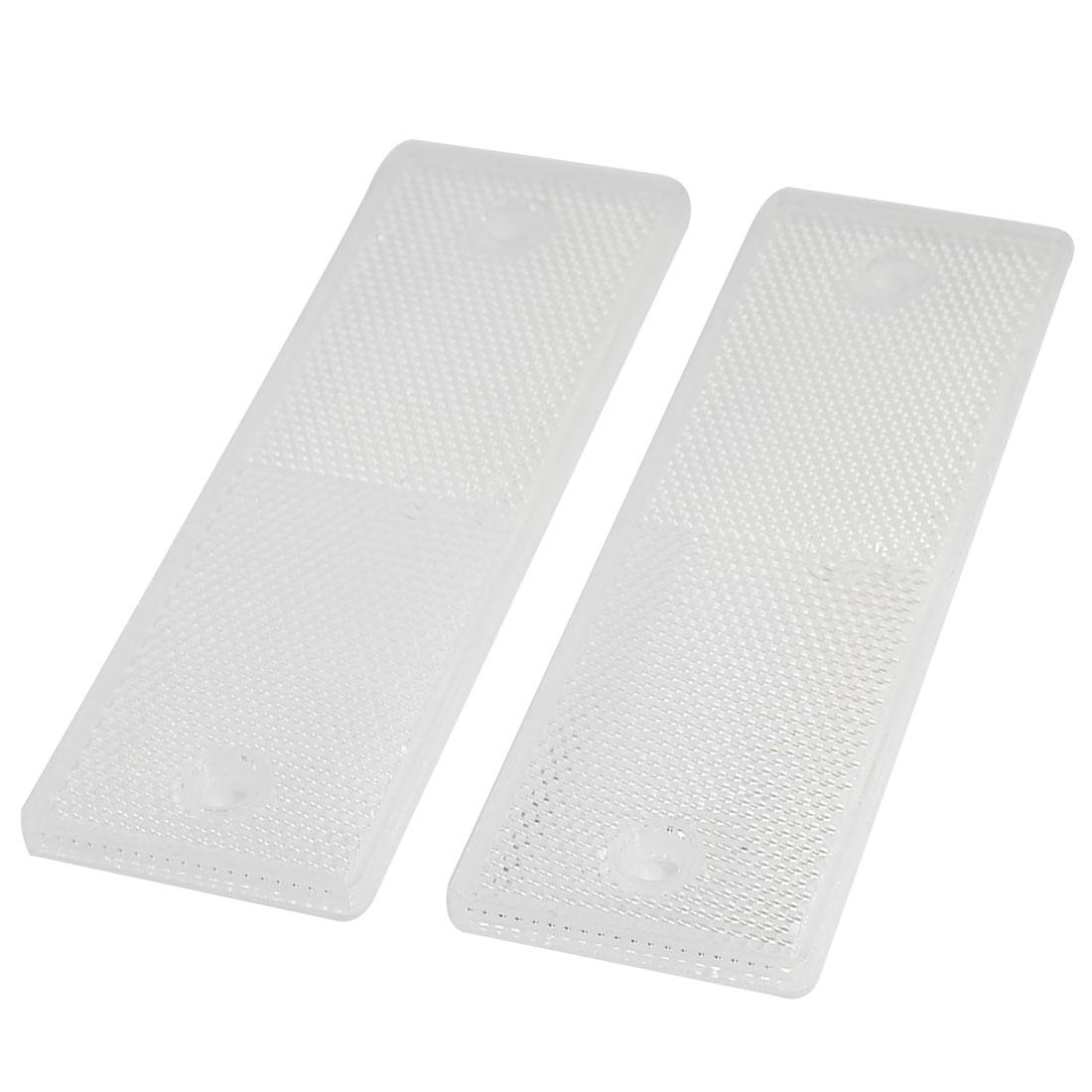 Car Auto Rectangle Safety Brake Reflector Caution Warning Plate White 2PCS