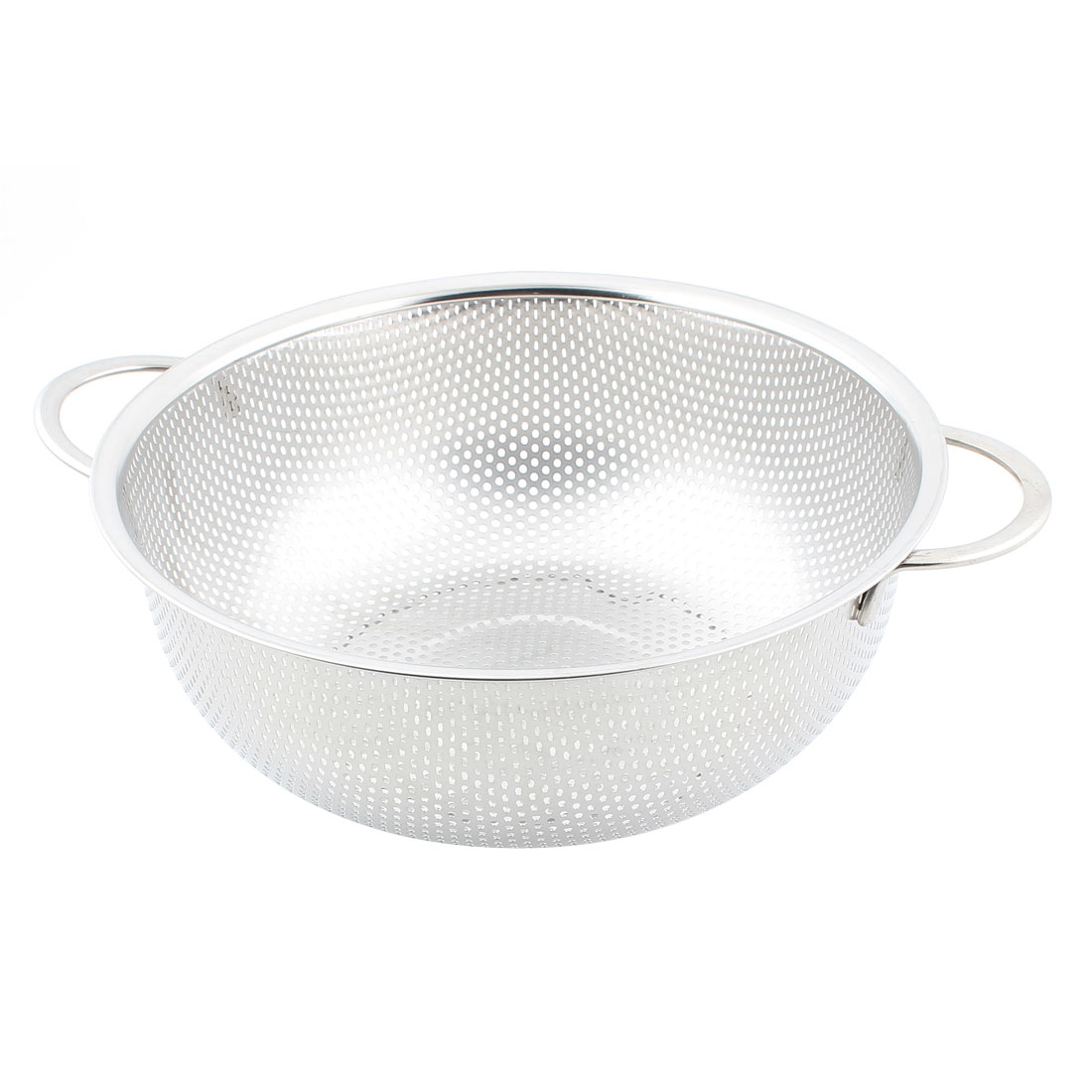 Metal Round Fry Food Fruit Vegetable Washing Basket Strainer 22.5cm Dia