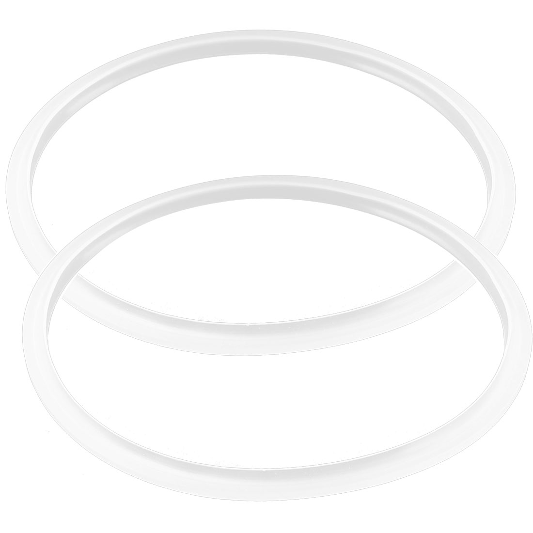 Pressure Cooker Gasket Sealing Ring 20cm Inner Dia Clear White 2 Pcs