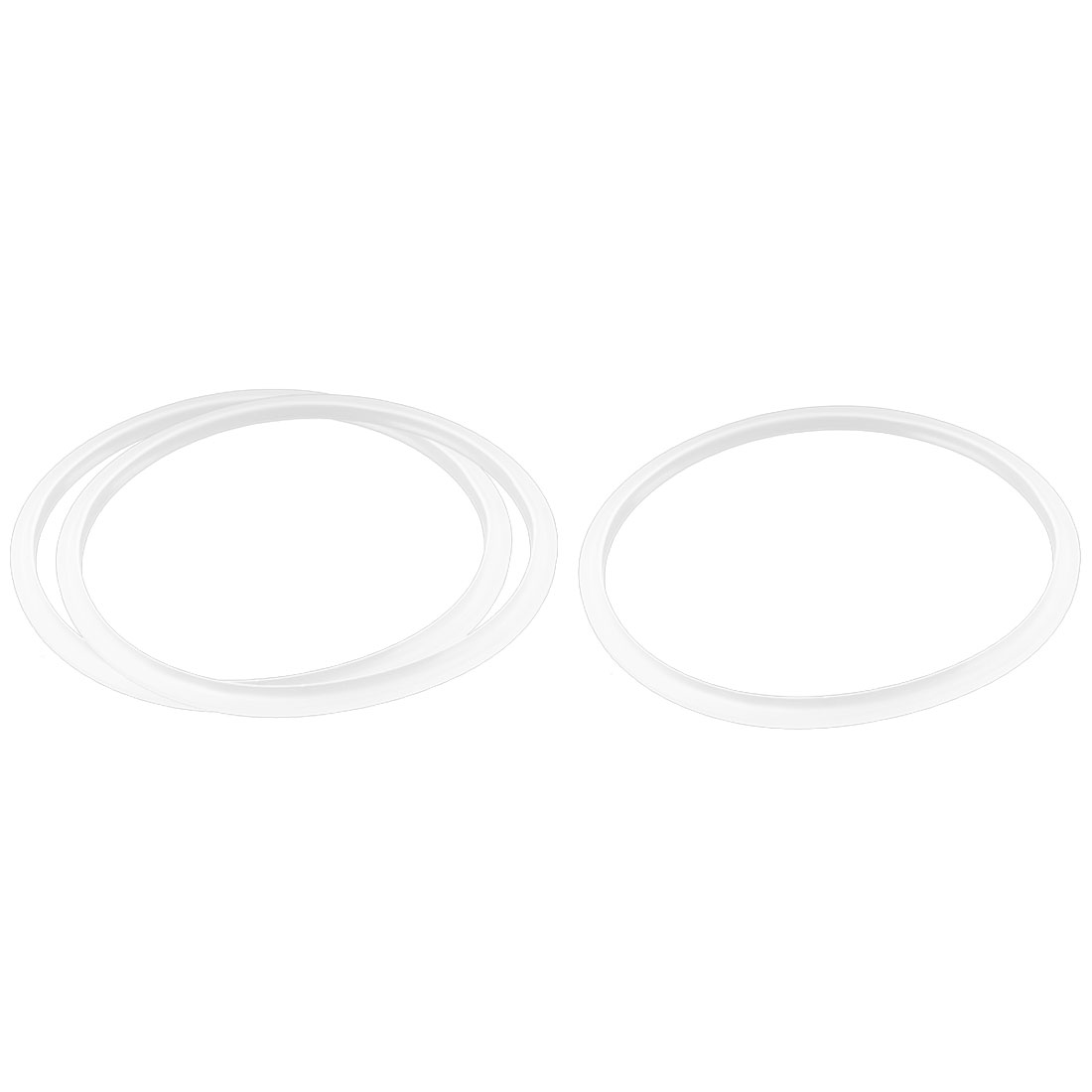 Pressure Cooker Gasket Sealing Ring Spare Part 20cm Inner Dia Clear White 3 Pcs