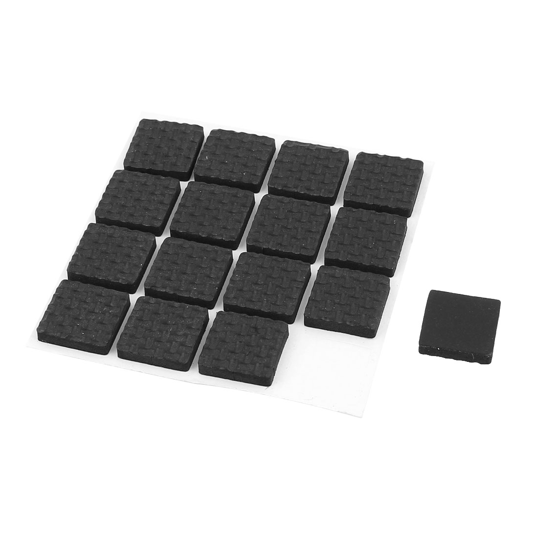Furniture Feet Antiskid Adhesive Protection Pads Felt Floor Protector Black 16 Pcs