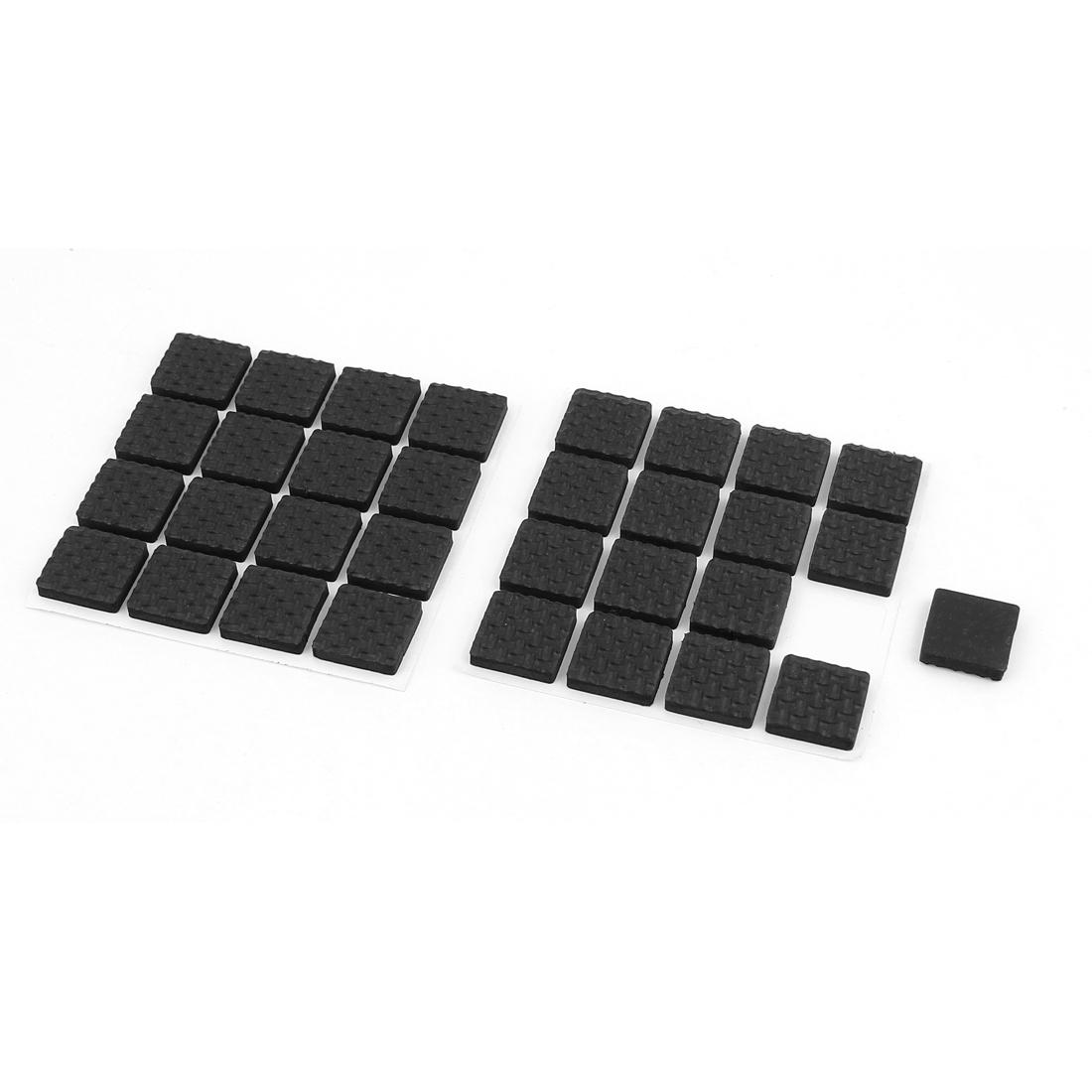 Furniture Feet Antiskid Adhesive Protection Pads Felt Floor Protector Black 32 Pcs