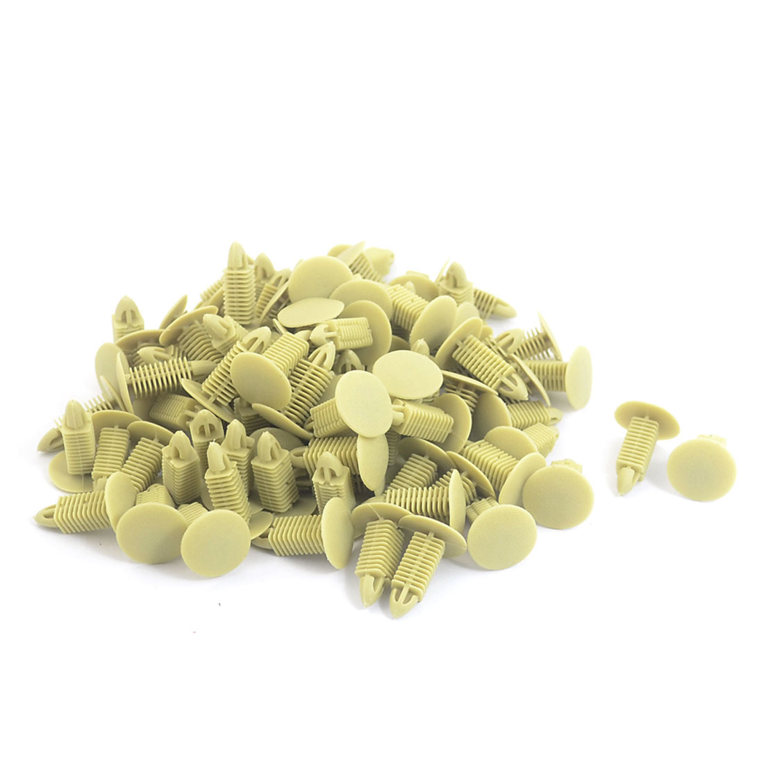 Plastic Buckle Ceiling Trim Rivets Fastener Clips Khaki 100PCS