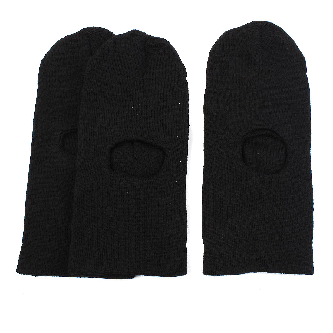 Elastic Knitted Cap Face Head Warmer Balaclava Hat Tactical Swat Police Mask Black 3PCS