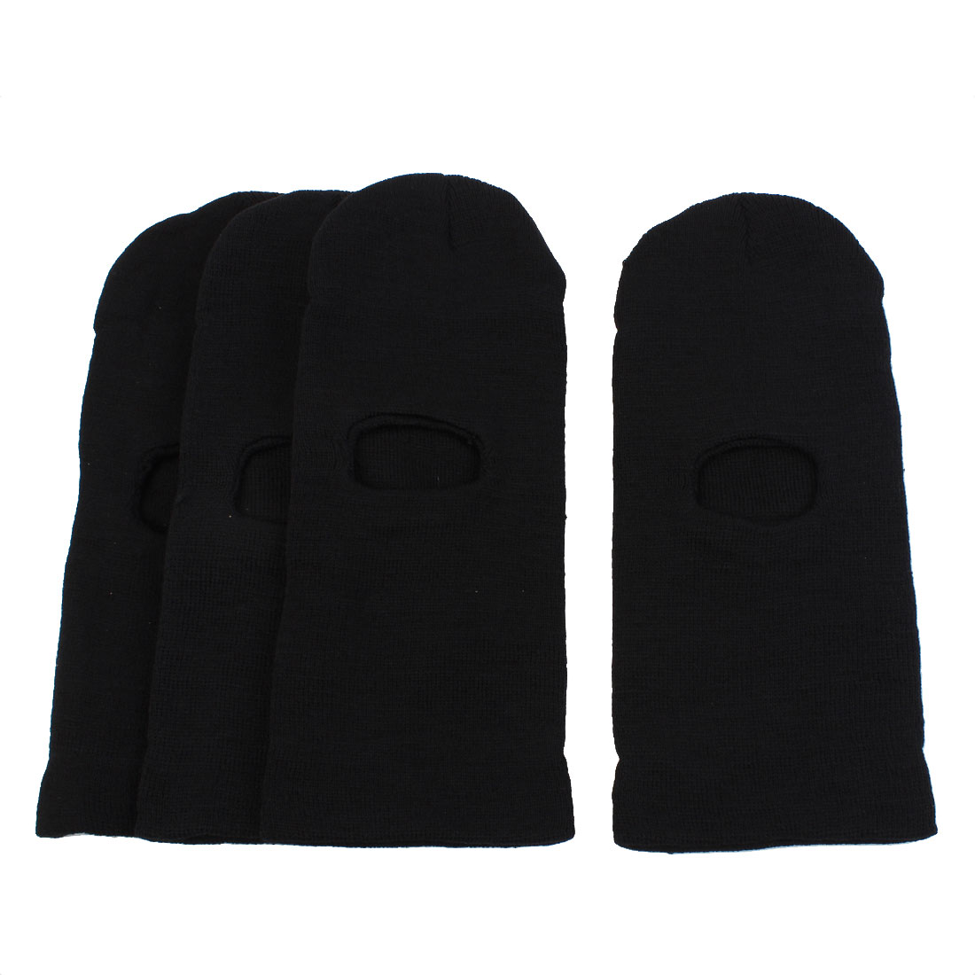 Ski Motorcycle Winter Warmer Balaclava Full Face Neck Hat Tactical Swat Police Mask Black 4PCS