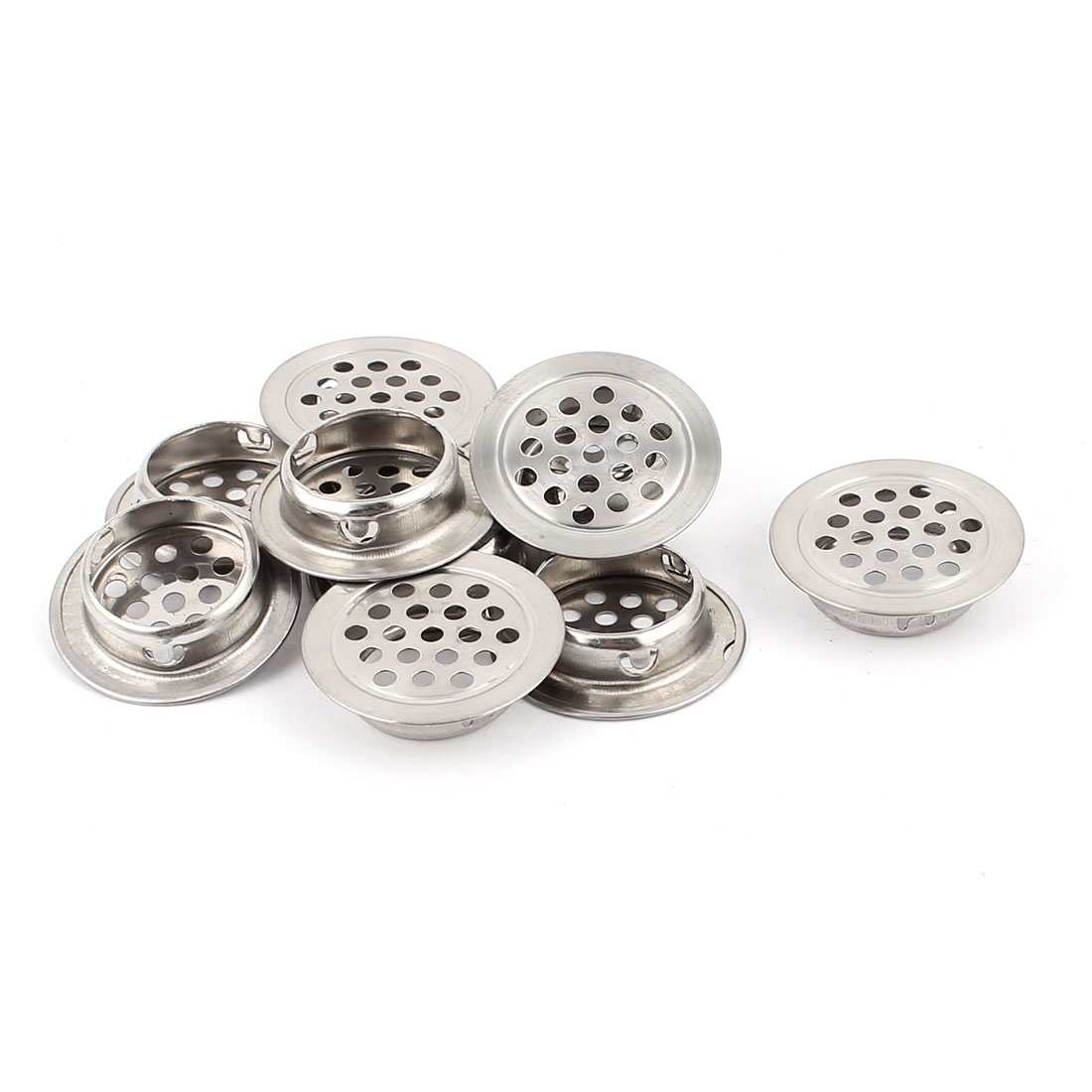 25mm Bottom Dia Round Flat Metal Air Vent Covers Ventilation Grilles 10PCS