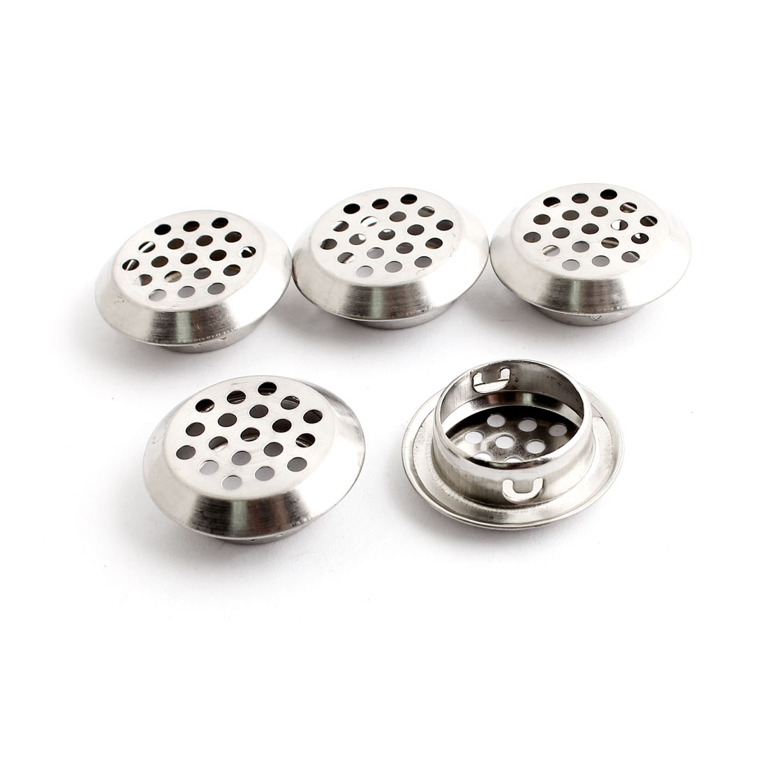 25mm Bottom Dia Circular Air Vent Grille Covers Ventilation Grilles 5PCS