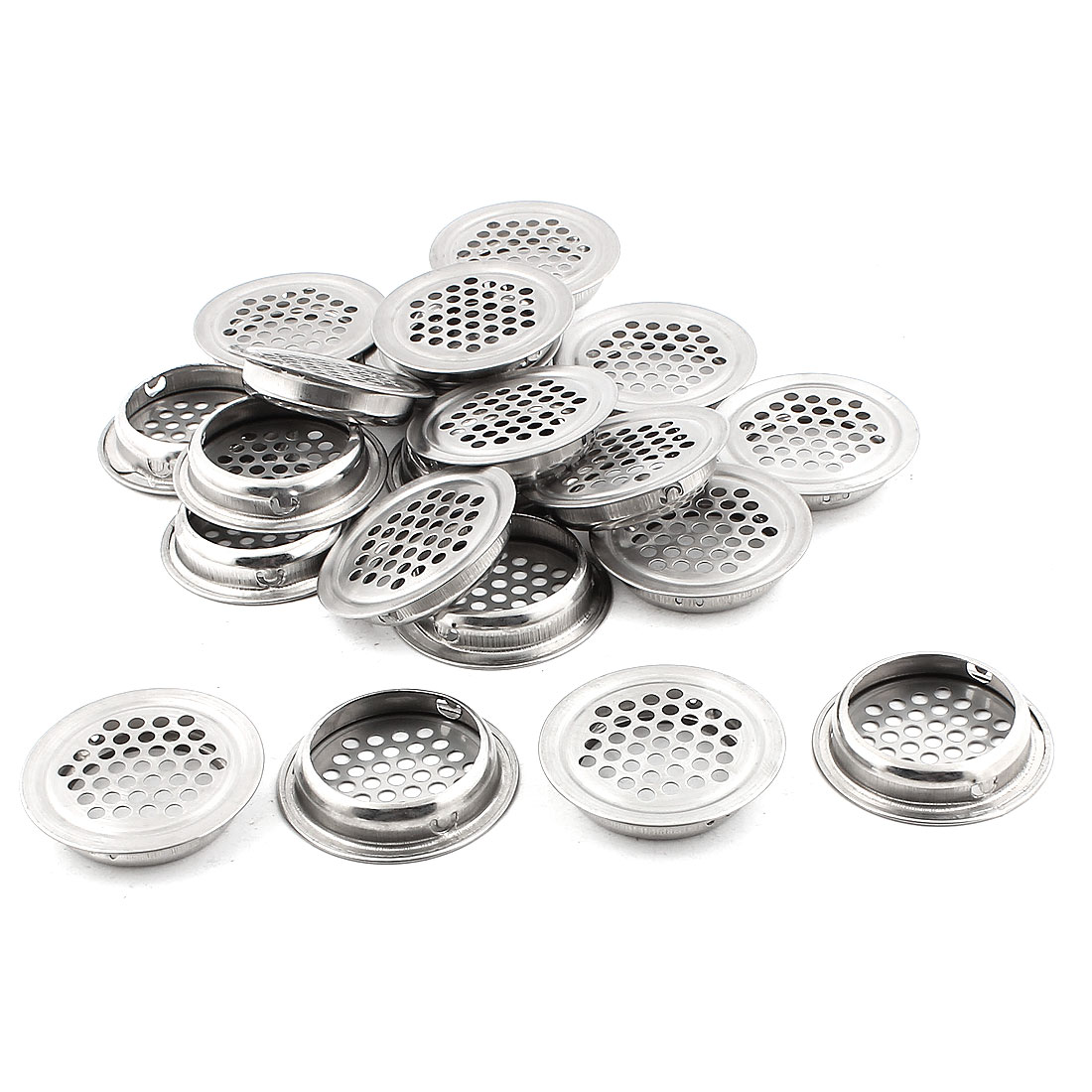 Shoes Cabinet Furniture 43mm Bottom Dia Round Panel Metal Air Vent Cover 20PCS