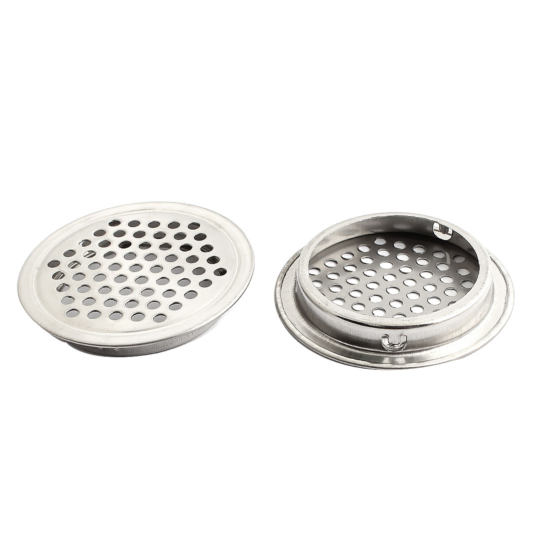 53mm Bottom Dia Perforated Mesh Air Vent Ventilation Louver Cover 2PCS