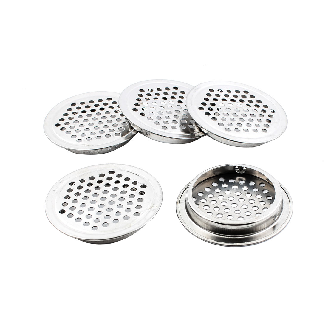 53mm Bottom Dia Perforated Metal Round Mesh Air Vents Ventilation 5PCS