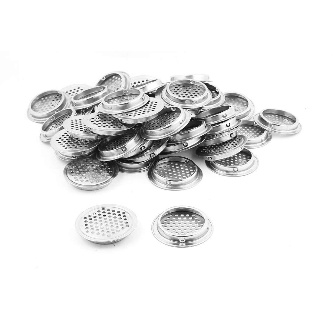 Furniture 53mm Bottom Dia Air Vent Grill Ventilation Round Cover 50PCS