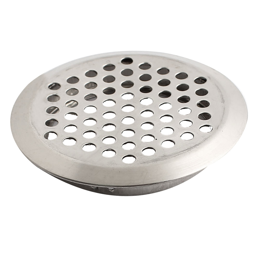 53mm Bottom Dia Metal Round Air Vent Grill Ventilation Cover Silver Tone