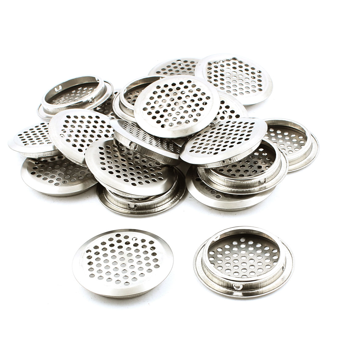 Cupboards Cabinets Ceiling 53mm Bottom Dia Metal Air Vent Cover 20PCS