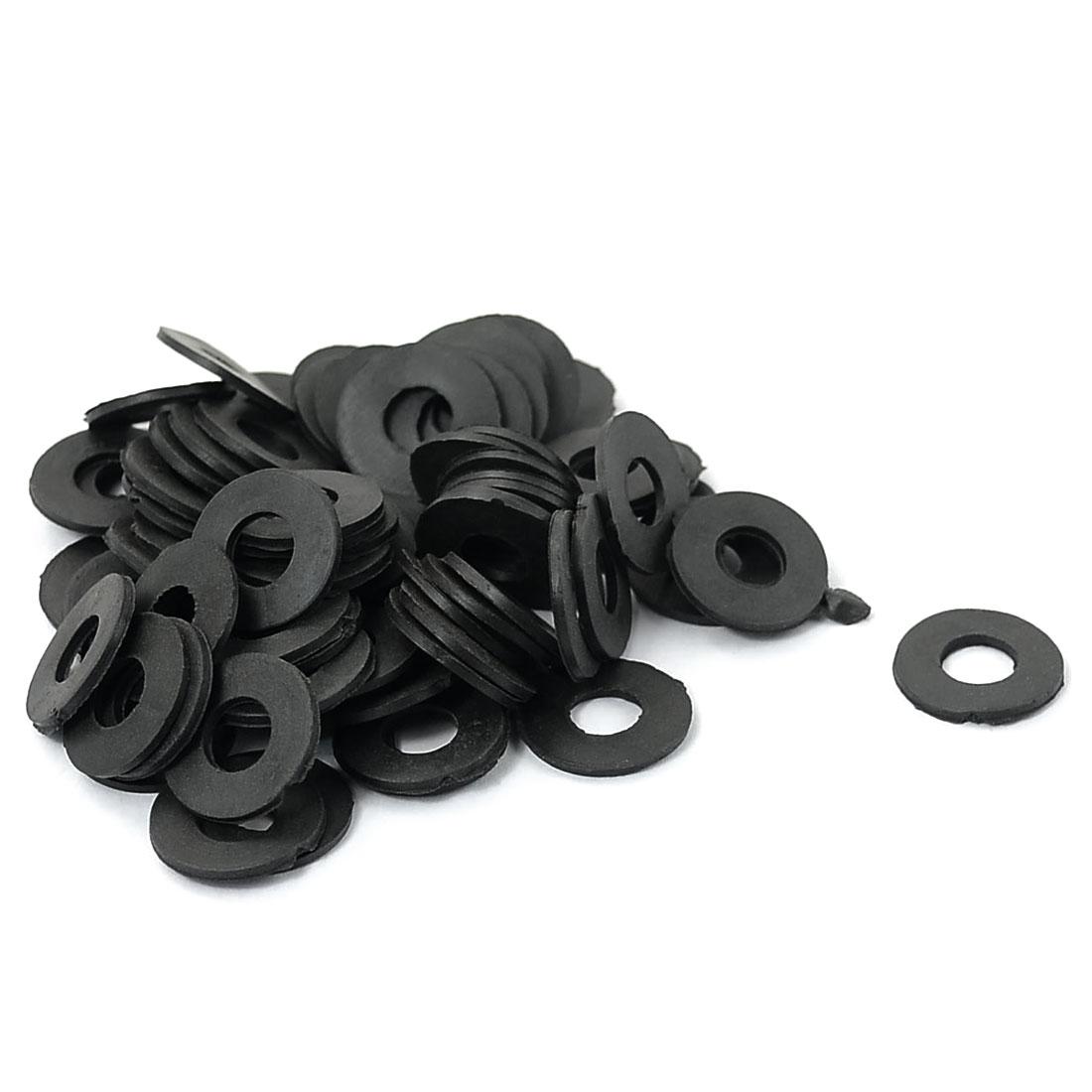 18mm x 8mm x 2mm Rubber Washer O Ring Seal Tap Sink Water Tube Sealing Gasket Black 80PCS