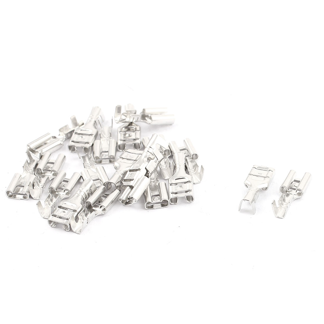 20PCS Electronic Components Non-Insulated Spade Female Terminals Connector