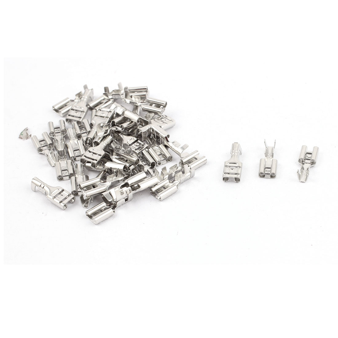 40PCS Electronic Components Non-Insulated Spade Female Terminals Connector
