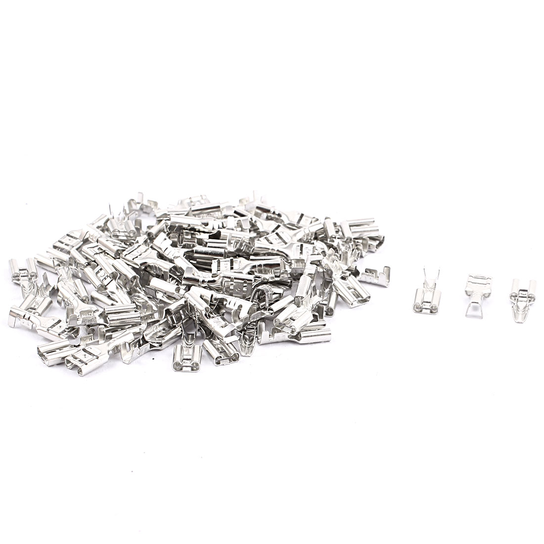 Electronic Components Non-Insulated Female Spade Terminals Connector 80PCS