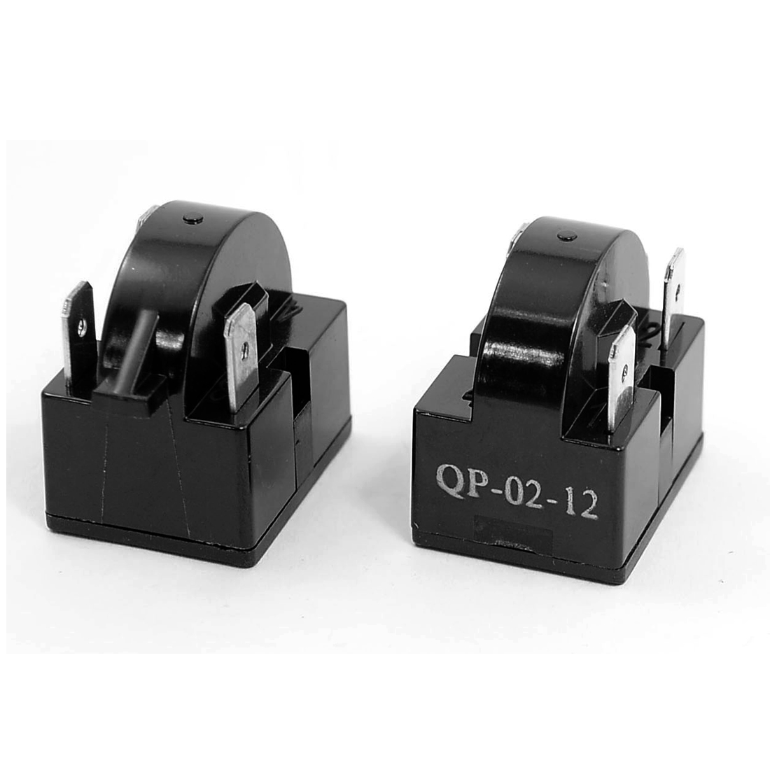 12 Ohm 3 Pins Refrigerator PTC Starter Compressor Relay Black 2PCS