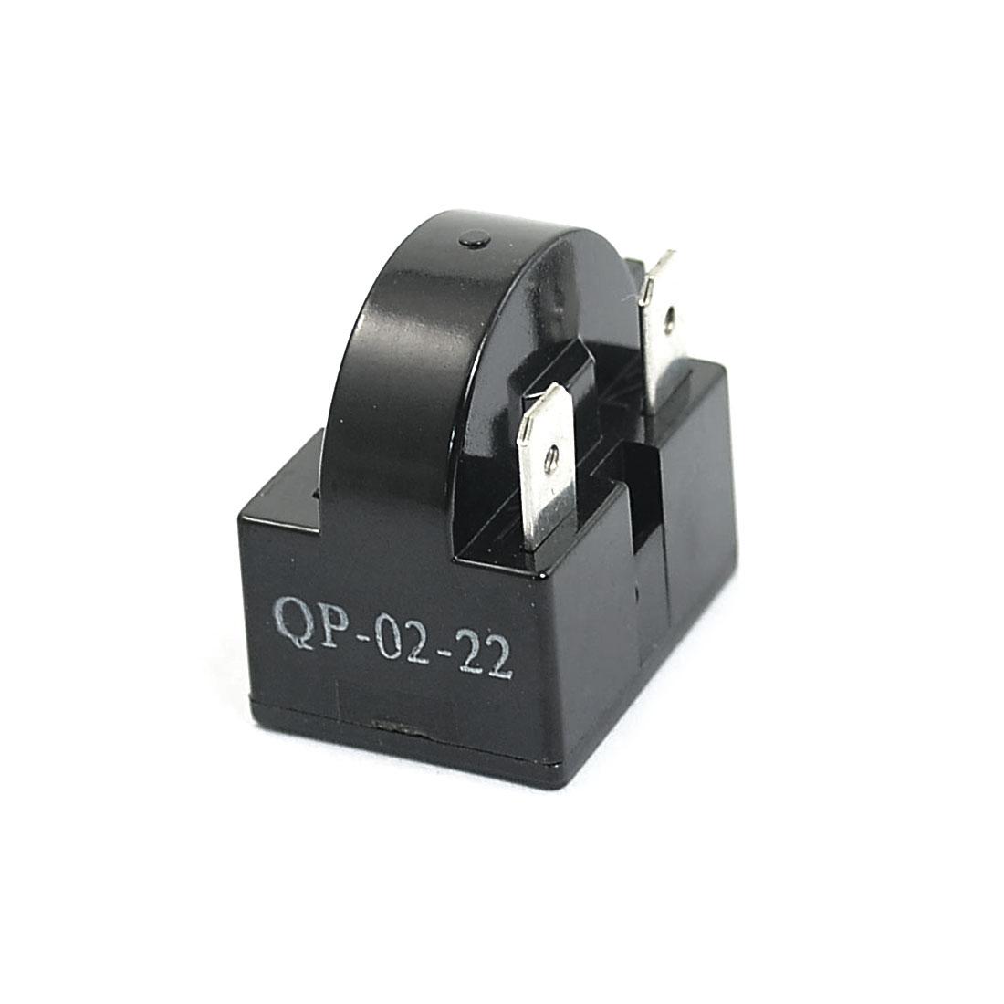 Plastic Shell 22 Ohm 3 Pins Refrigerator PTC Starter Relay Black