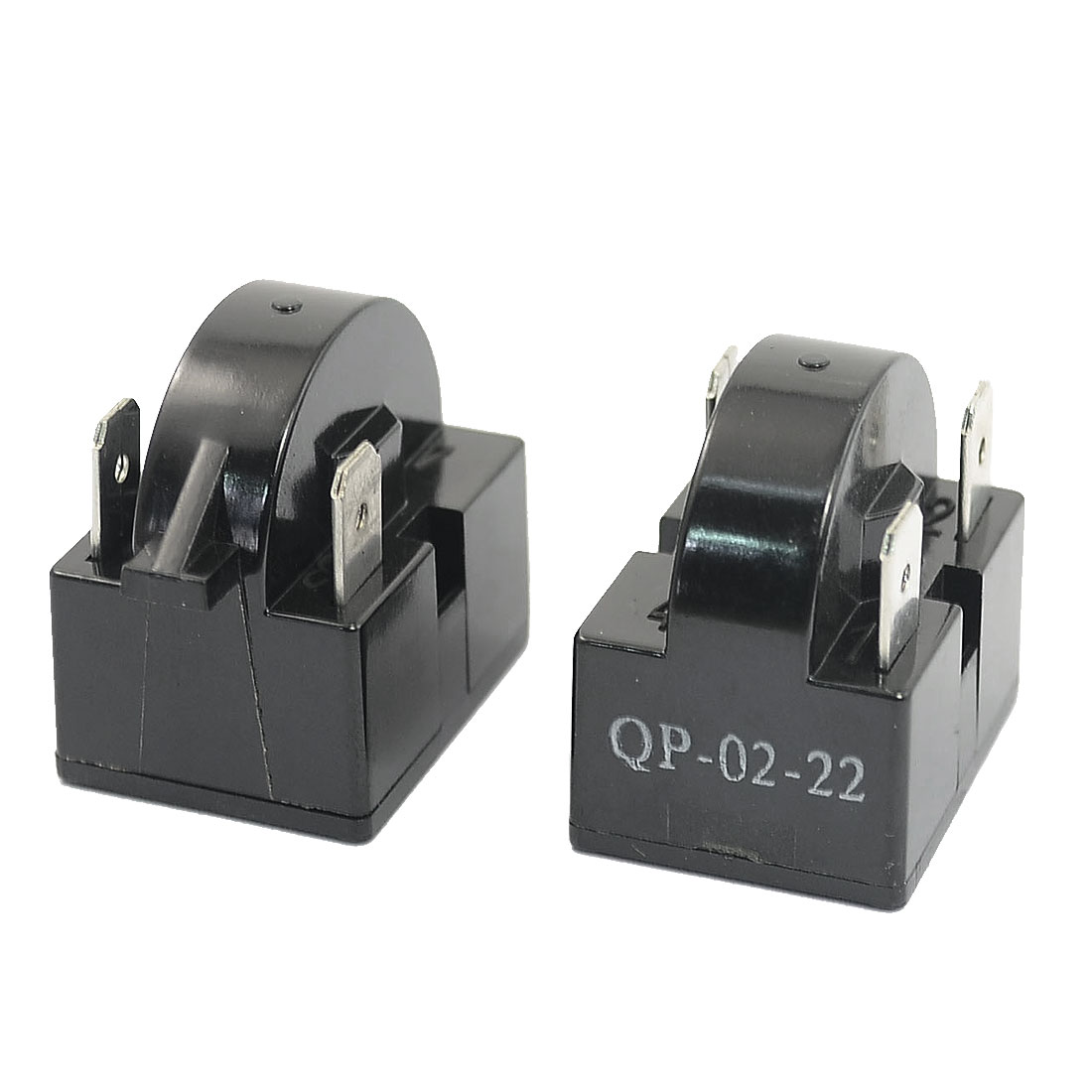 Plastic Shell 22 Ohm 3 Pins Refrigerator PTC Starter Relay Black 2PCS