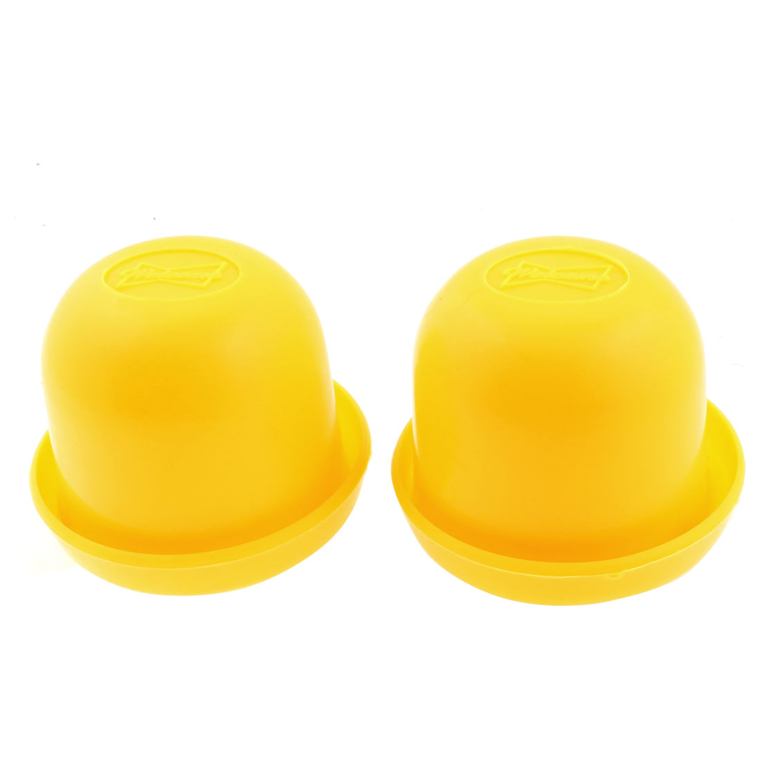 KTV Pub Game Toy Plastic Holder Shaking Cup Box Yellow 2PCS w Dices
