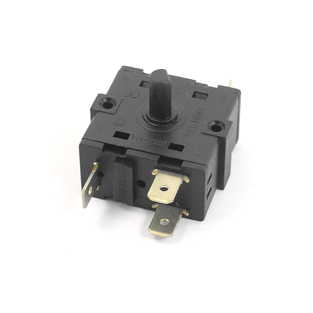 AC 250V 15A 5 Pins Rotary Switch Selector Replacement Black for Electric Room Heater