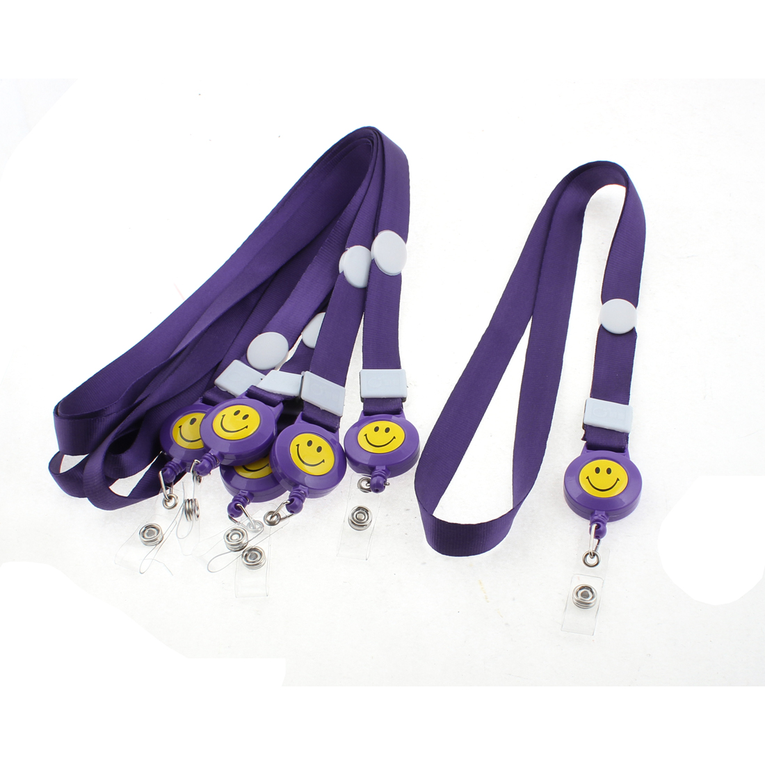 Purple Lanyard Name Exhibition Business Badge ID Card Holder Neck Strap 6PCS