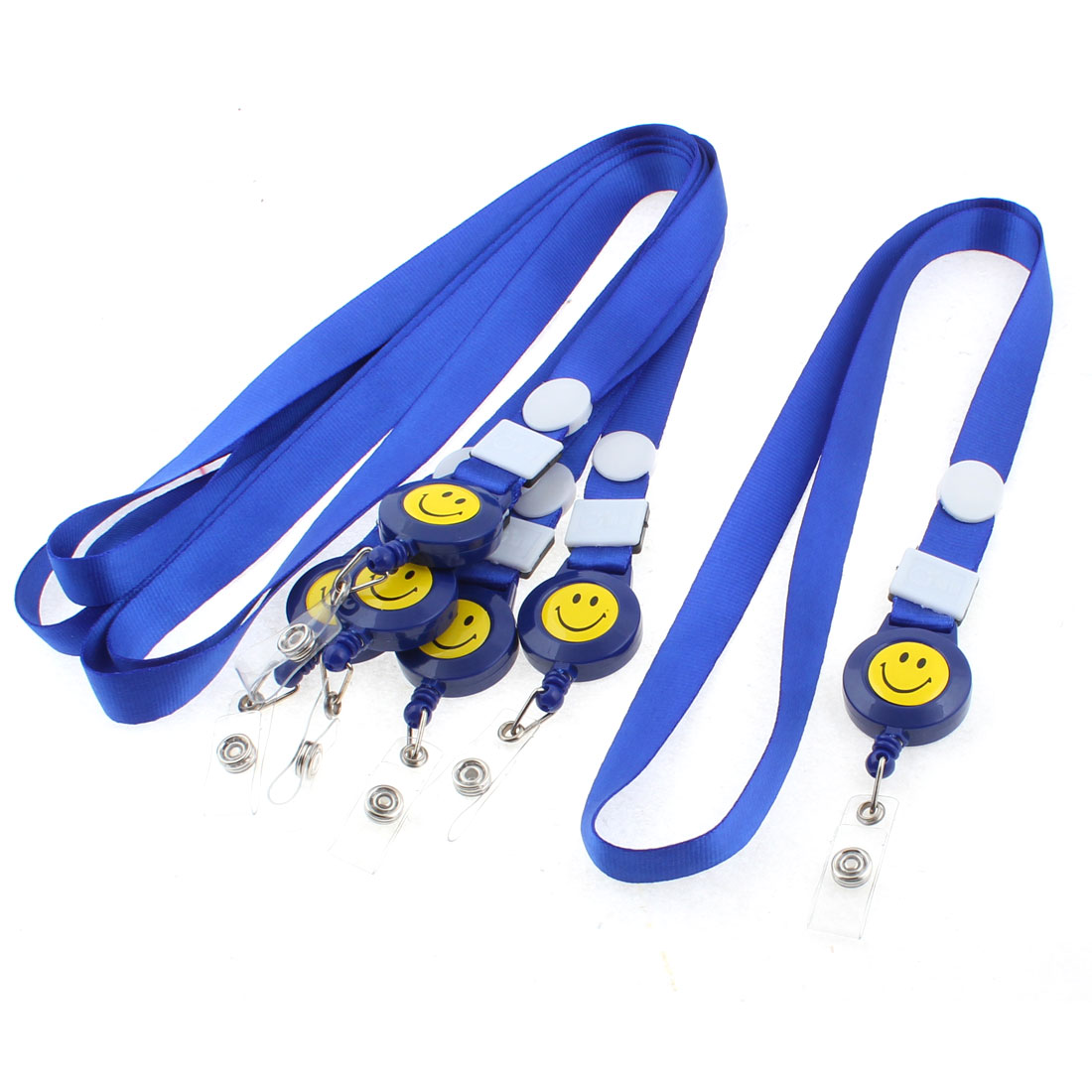 Photo Company Position Badge ID Card Holder Neck Strap Royal Blue 6PCS
