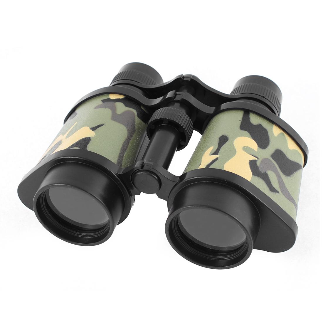 Plastic Transparent Lens Neck Hang Strap Adjustable Binocular Camouflage Color