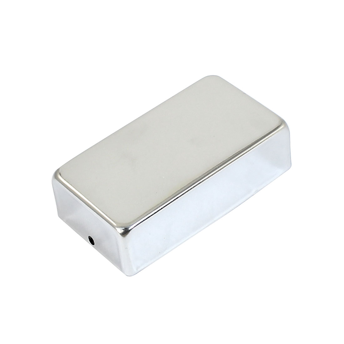 Electric Guitar Humbucker Pickup 7cm x 4cm x 2cm No-Hole Metal Cover Silver Tone