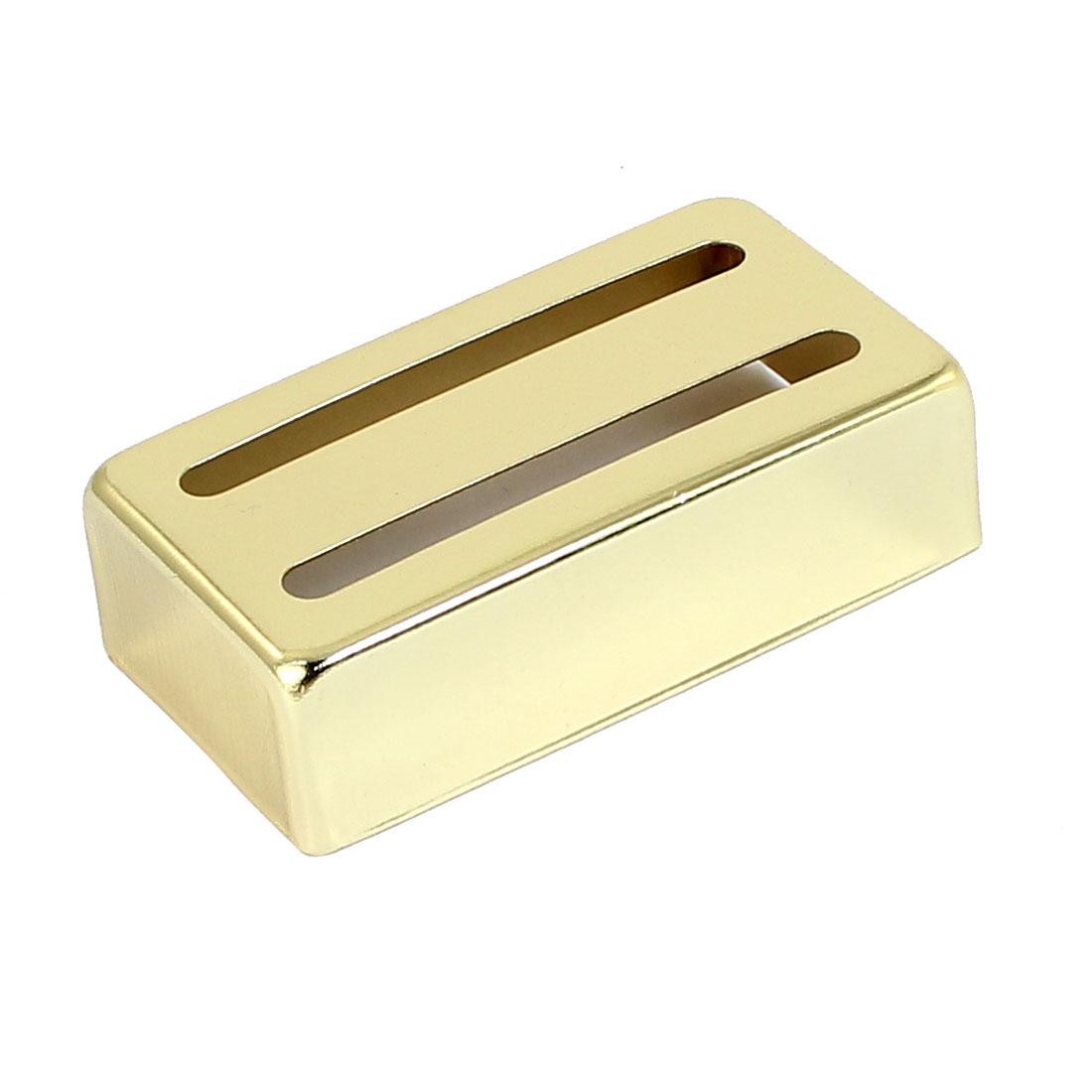Acoustic Electric Guitar Humbucker Pickup 7cm x 4cm x 2cm Metal Cover Gold Tone