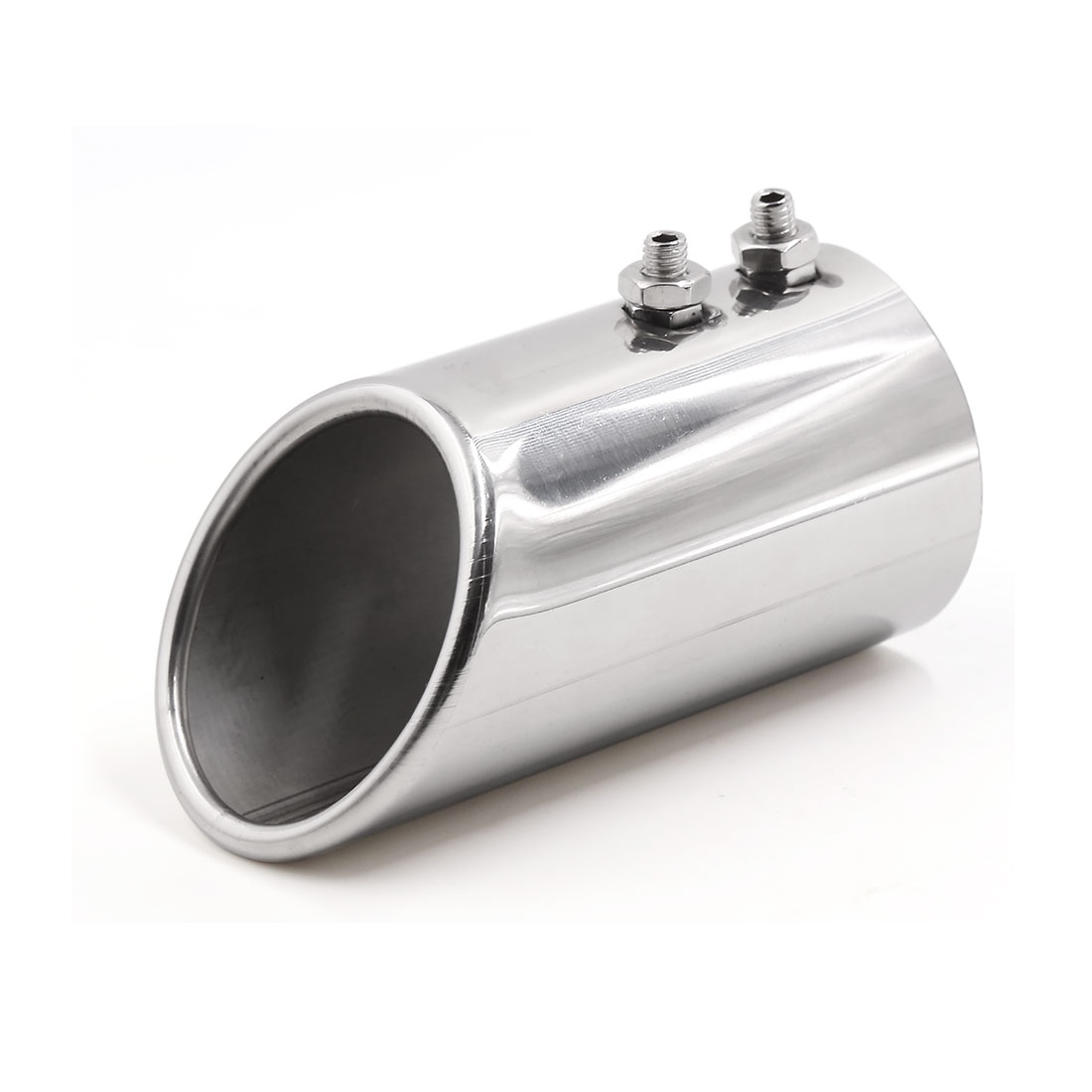 """Universal 75mm 3"""" Inlet Dia Car Truck Exhaust Muffler Tail Pipe Decorative Tip"""