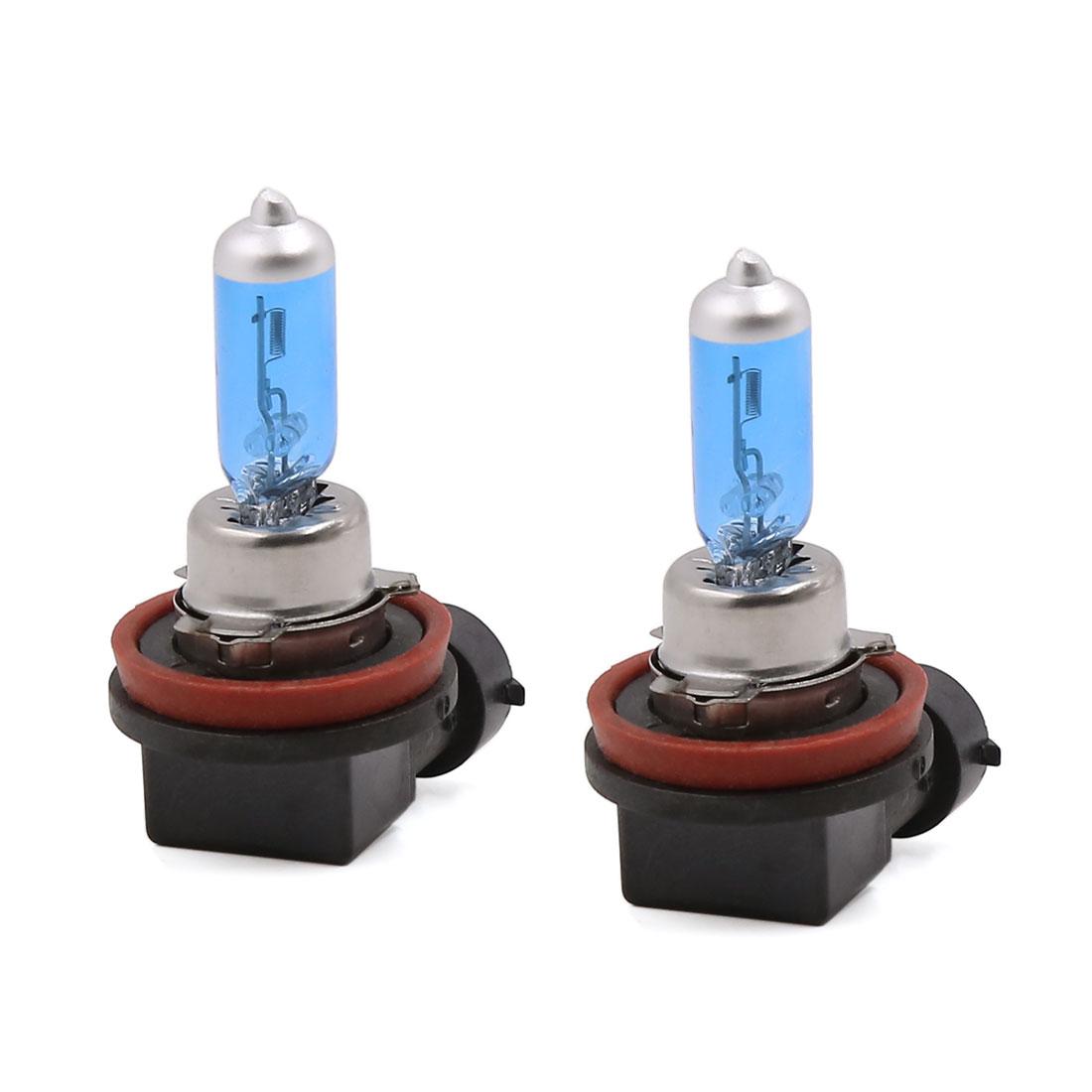 2 Pcs 12V 100W H11 Socket Super White Fog Halogen Bulb Head Light Lamp for Car