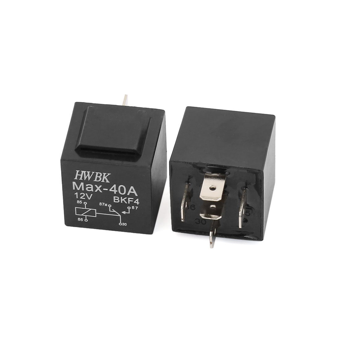 DC 12V 40A Car Automotive 5 Pin 1NO 1NC SPDT Control Device Power Relay 2 Pcs