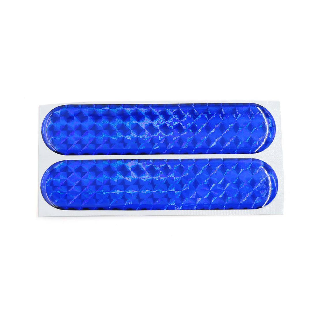 20pcs 105 x 23mm Blue Plastic Reflective Warning Tape Stickers for Car Safety