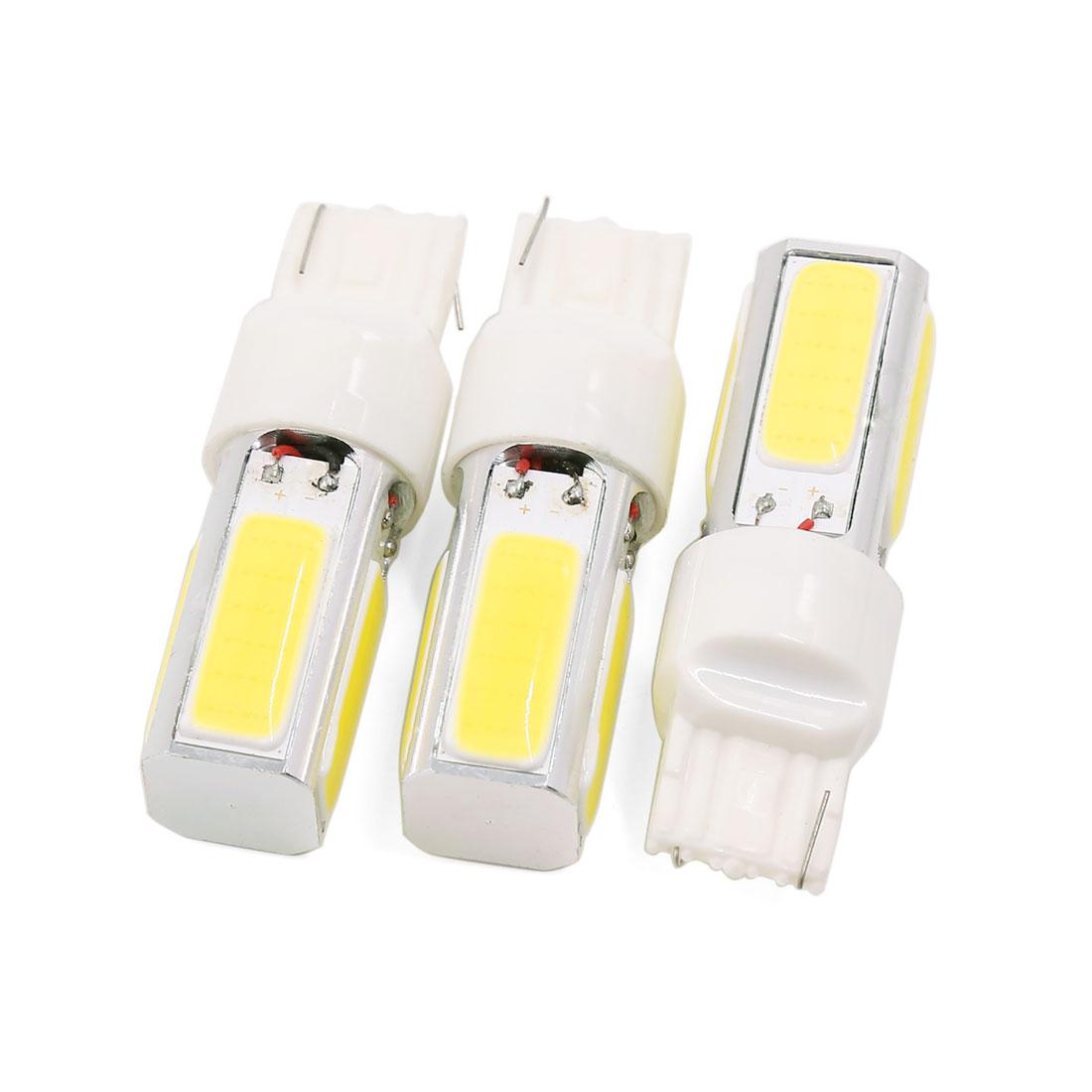 3 Pcs 3156 3056 4 COB Yellow LED Auto Car Turn Signal Lamp Light DC 12V 7.5W