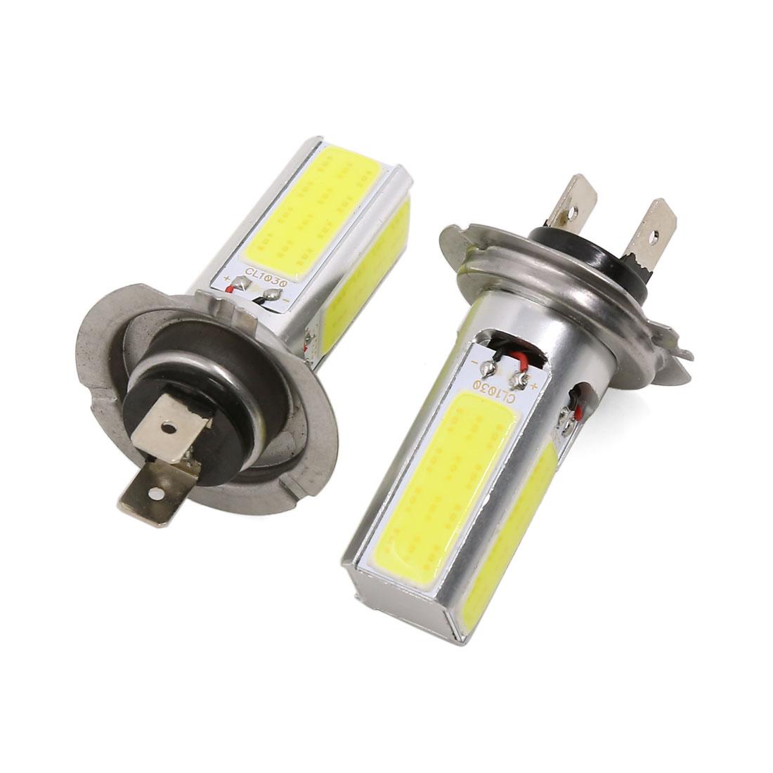 2 Pcs H7 White 4 COB LED Fog Running Light Driving DRL Lamp Bulb 12V 15W