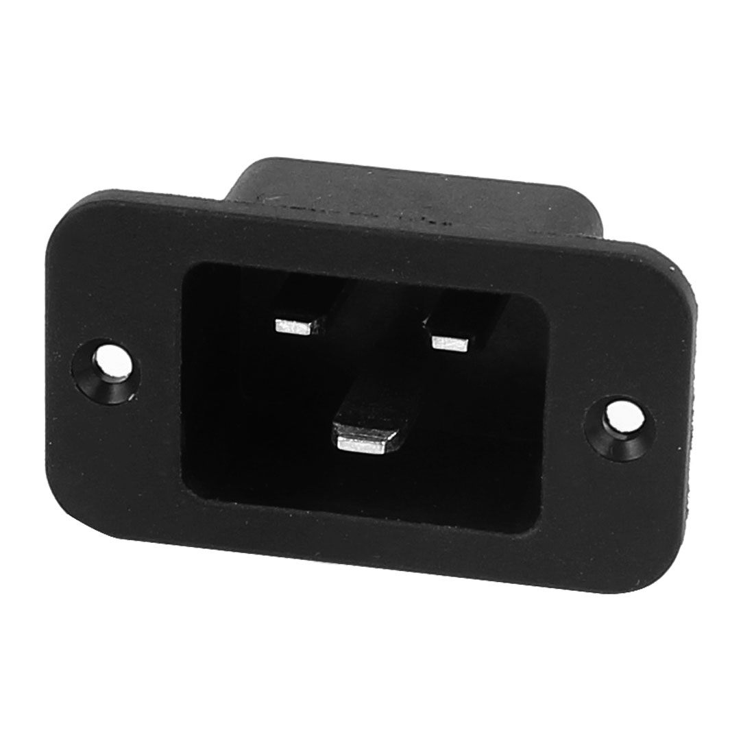 AC 250V 16A 3P IEC320 C14 Male Inlet Connector Power Socket Black