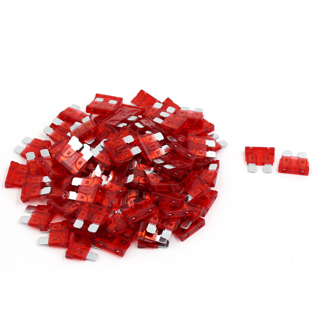 101 Pcs 10A Medium Size ATC Blade Type Fuse Fuses Red for Car Boat Motorcycle