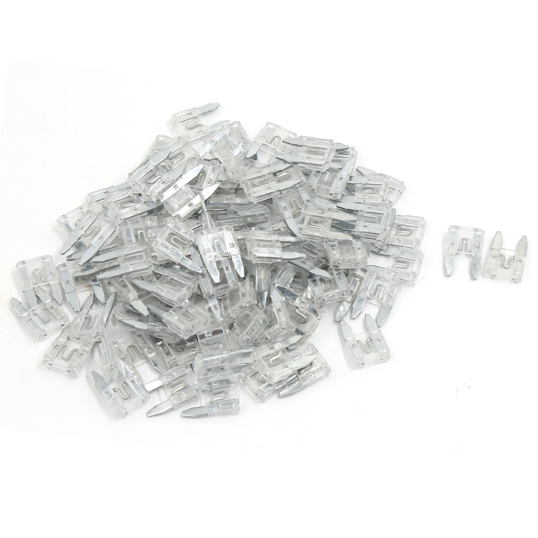 100 Pcs White Car Auto Trucks SUV Replacement Fuses Mini Blade Fuse 25A