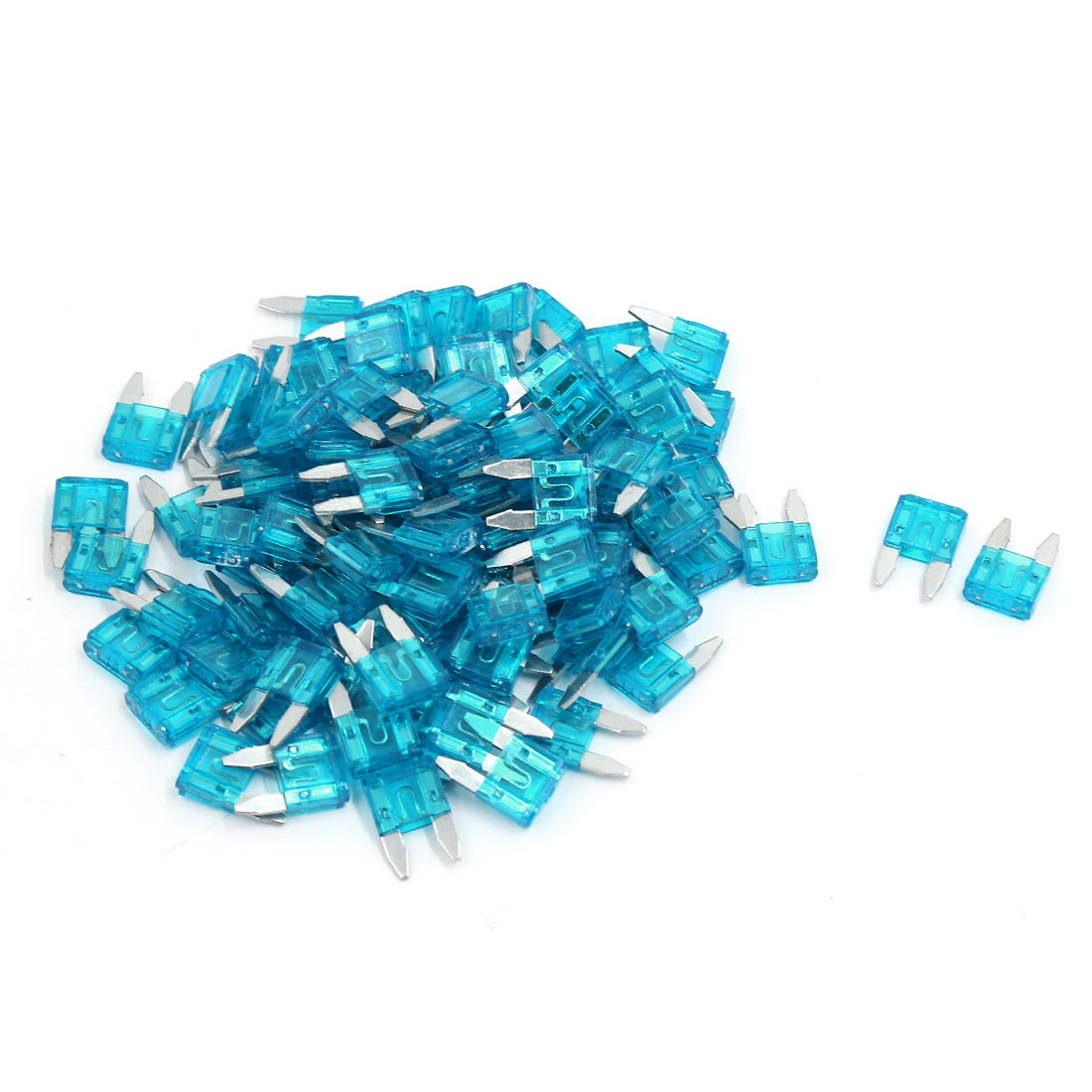 98 Pcs Blue Car Auto Trucks SUV Replacement Fuses Mini Blade Fuse 15A