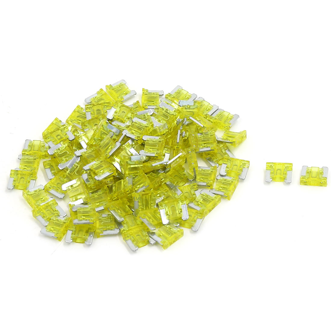 100pcs Yellow Plastic Casing ATC ATO Mini Blade Fuses 20A for Car Truck Auto