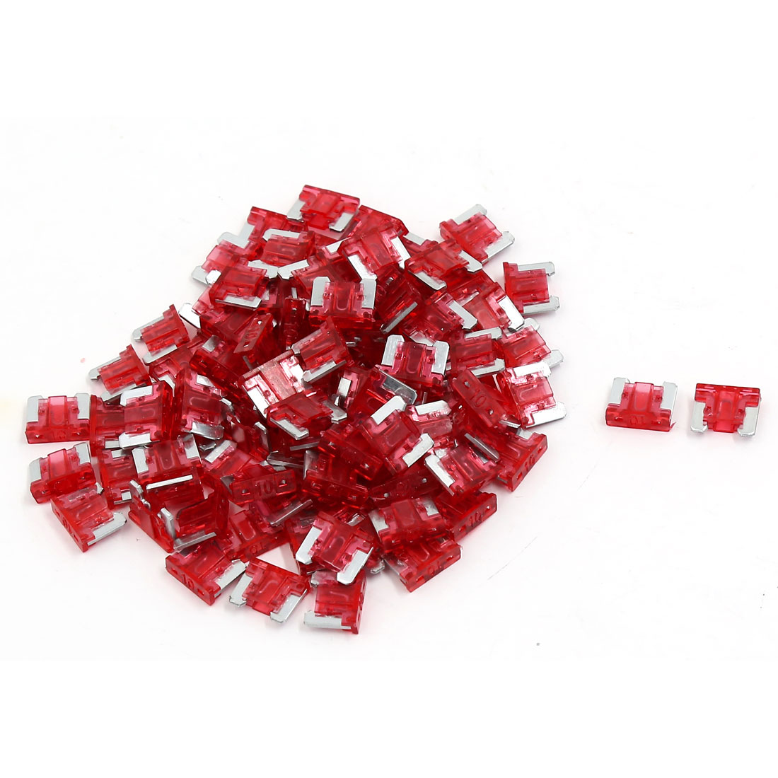 98pcs Red Plastic Casing ATC ATO Mini Blade Fuses 10A for Car Caravan Truck Auto