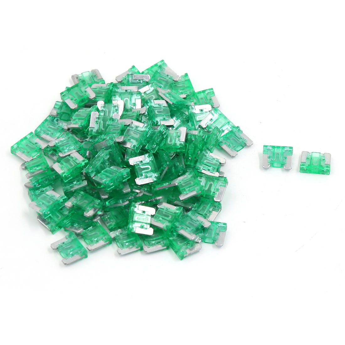 100pcs Green Plastic Casing ATC ATO Mini Blade Fuses 30A for Car Caravan Auto