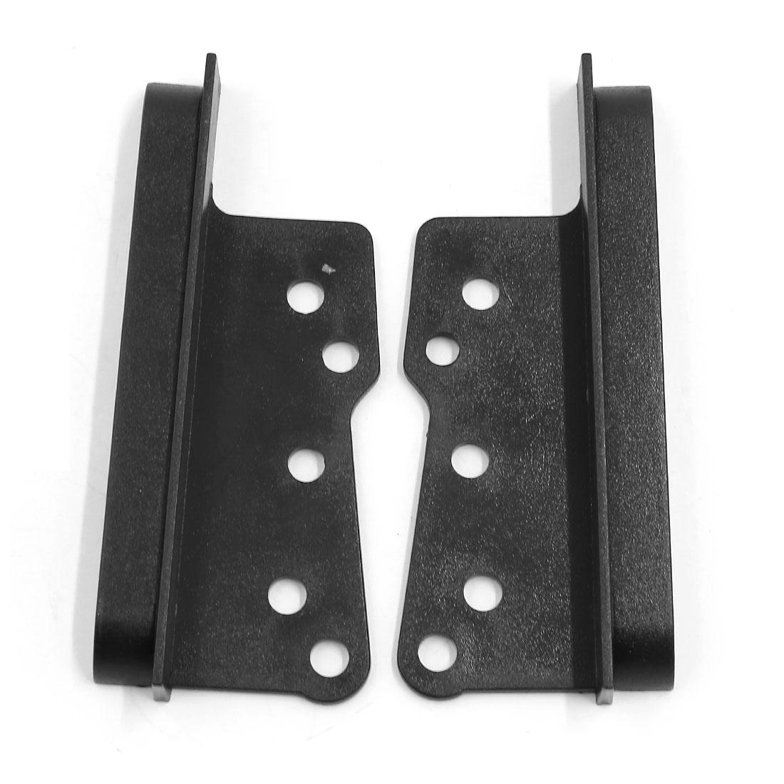 2 Pcs Black Plastic Car DVD Panel Trim Audio Stereo Frame Bracket for Toyota