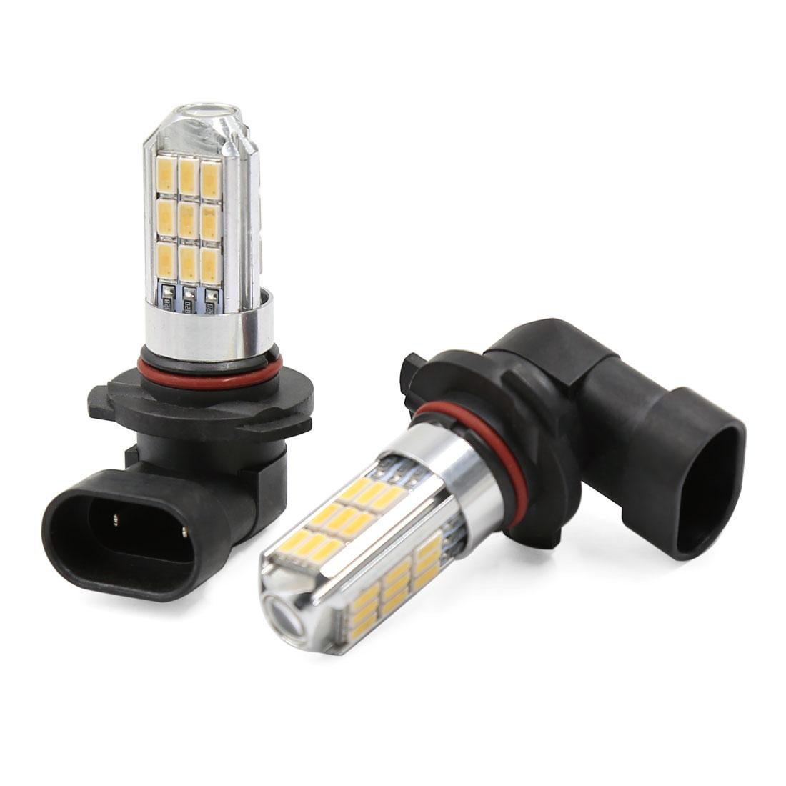 2 Pcs 9006 HB4 27 SMD LED White Car Fog Driving Daytime DRL Head Light 12V