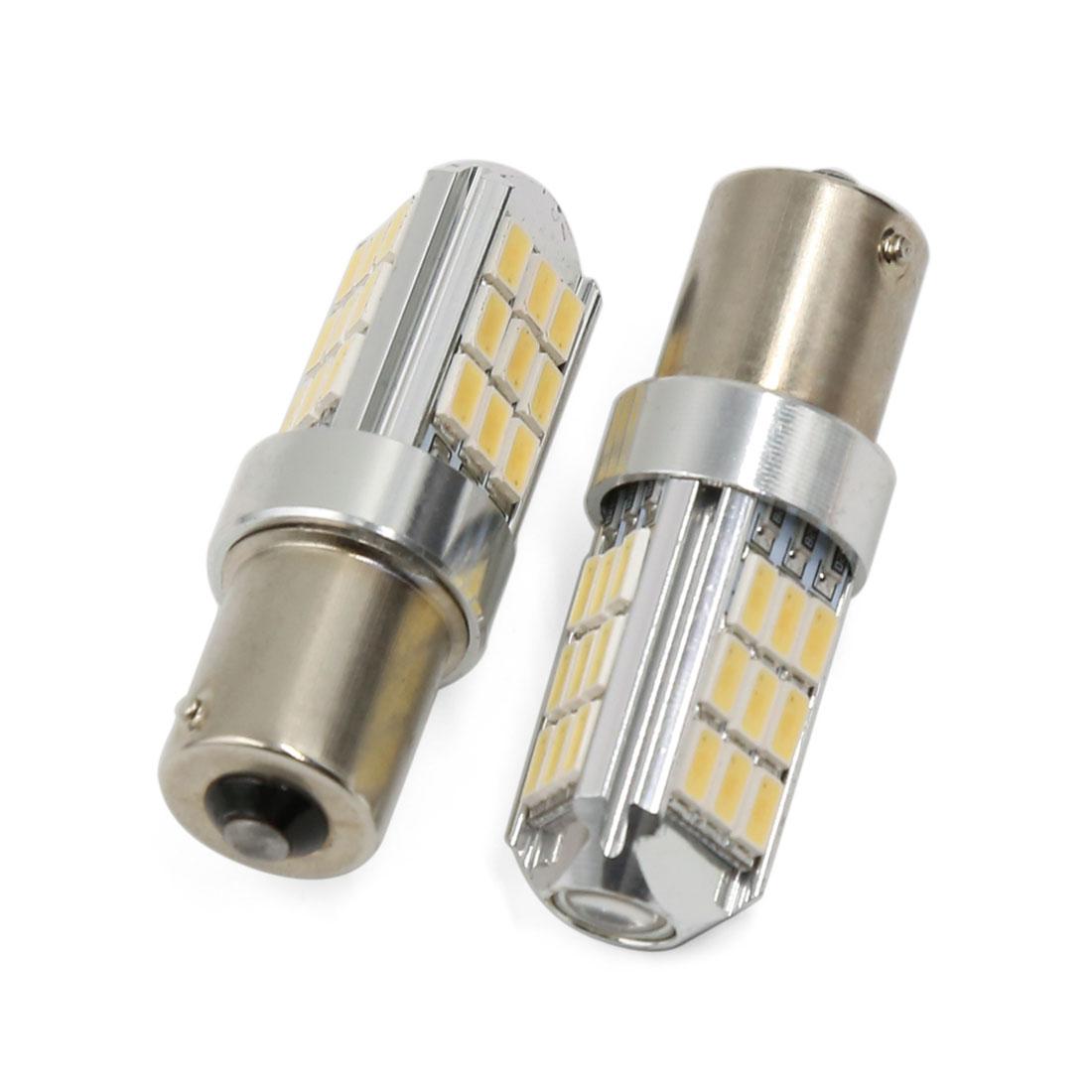 White Car 1156 BA15S 27 SMD LED Bulb Tail Turn Signal Lamp Light DC 12V 2 Pcs