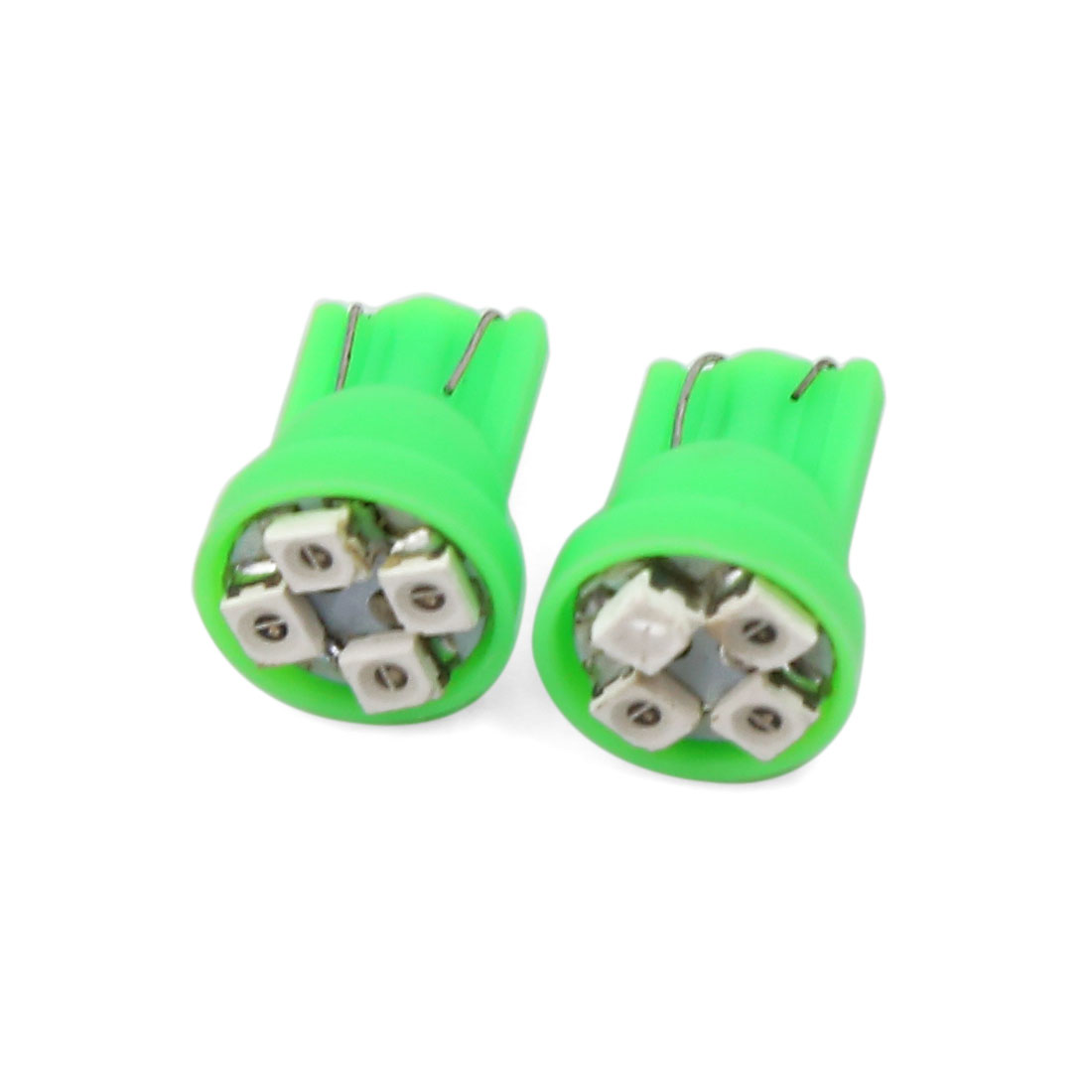 Car T10 W5W 259 Green 1210 SMD 4 LED Bulb Dashboard Light Lamp 2 Pcs Interior