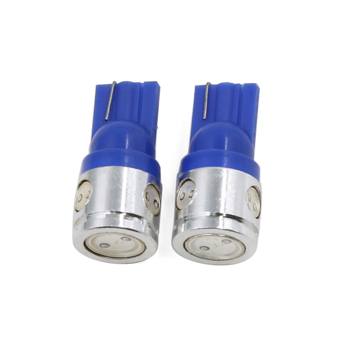 2 Pcs T10 Blue 2.5W High Power LED Bulbs Car Backup Reverse Light Lamp Interior