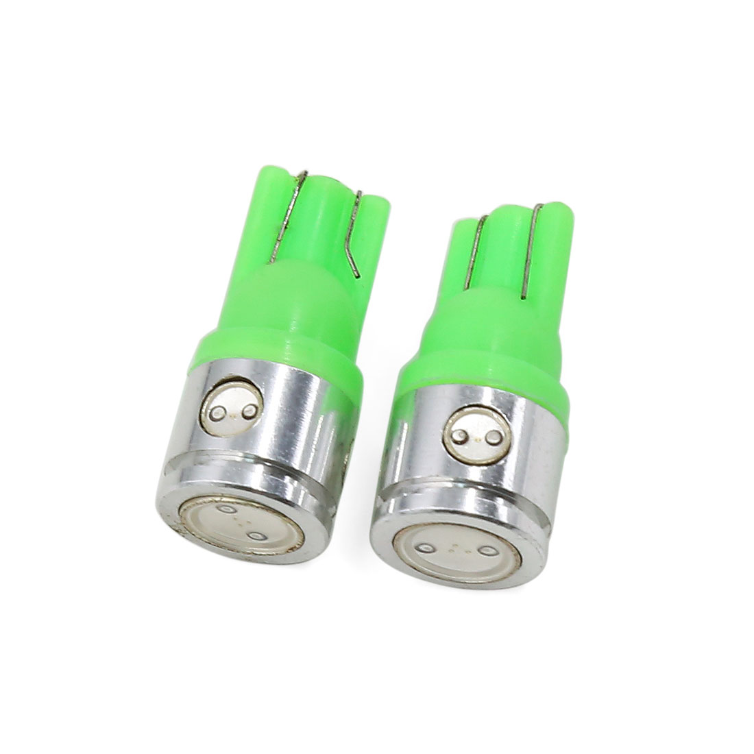 2 Pcs T10 Green LED Bulbs Auto Car Instrument Panel Wedge Light 2.5W Interior
